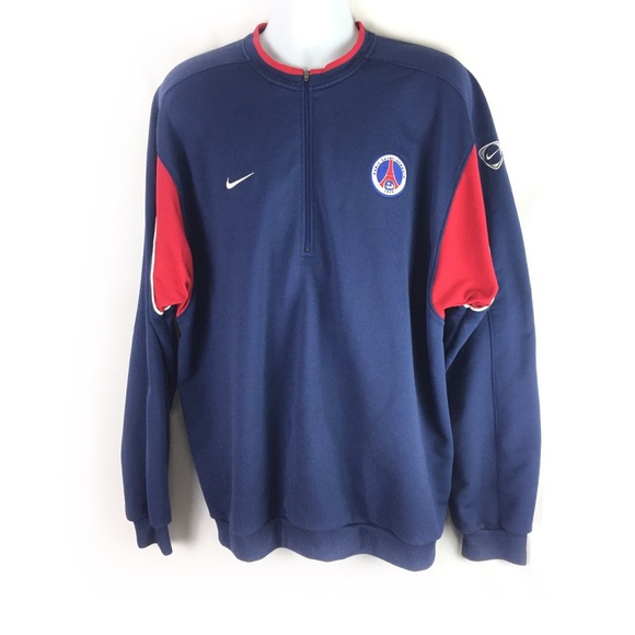 pretty nice f3a5e 871cc NIKE | 1/4 zip sweatshirt Saint Germain Paris XXL